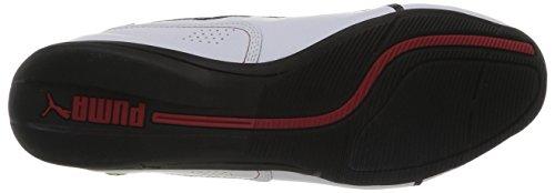 Puma Drift Cat 6 SF Flash - zapatilla deportiva de cuero unisex blanco - Weiß (white-rosso corsa 03)