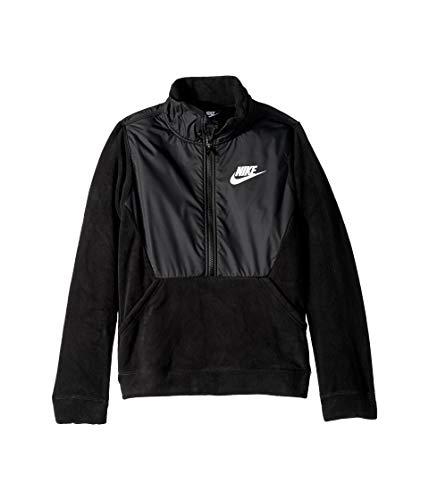 Nike Youth Winterized Half Zip Poly-Fleece Jacket Black/Black-White Size Youth Large