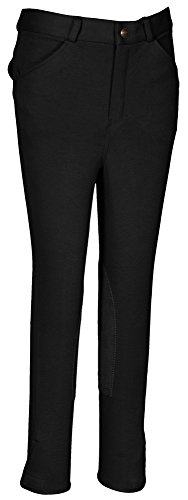 TuffRider Boy's Patrol Light Breech, Black, (Boys Breeches)