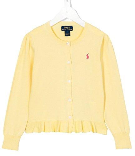 Ralph Lauren Polo Girls Ruffled Cardigan Sweater (6X)