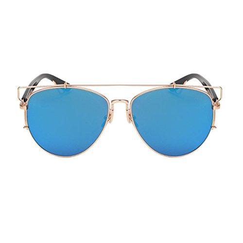 Lunettes Bleu Camping Miroir avec UV 653 Cadre lentille jolie bleu de Couleur Lunettes Lunettes Homme Conduit et en lumière et sport Anti de Lunettes Femme Conduit Randonnée de soleil or Outdoor ZBqwYUC