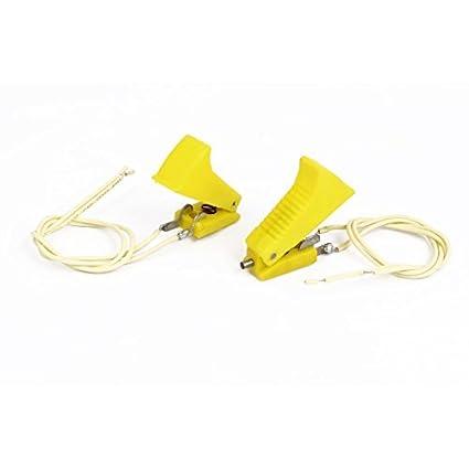 Shell eDealMax plástico amarillo 2 Terminales de CO2 pistola de soldadura de corte del interruptor de 2 PC - - Amazon.com