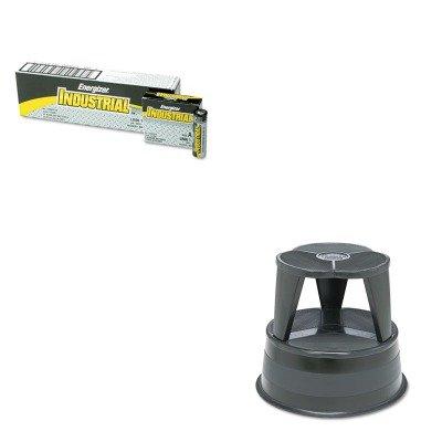 (KITCRA100192EVEEN91 - Value Kit - Cramer Original Kik-Step Steel Step Stool (CRA100192) and Energizer Industrial Alkaline Batteries (EVEEN91))