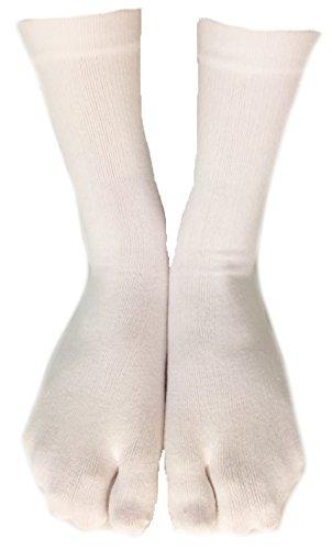 Tabi Socks- Comfortable Soft White Ankle-High Toe Socks