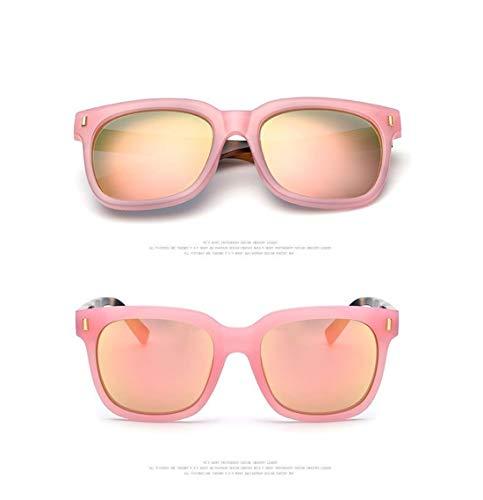 UV400 Mujer Gafas Fliegend A Espejo Gafas Gafas Retro Polarizadas Lente de Hombre Ligero Ultra Vintage Rosa Cherry Sol Sol Sol Gafas Unisex de para Sol Estuche de de q0xOqP