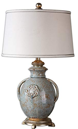 Uttermost 26483 Cancello Glaze Lamp, Blue