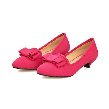 Faux Heels Pumps Open Women's Heels red Low Heels High Suede Heel Cirior High Lace Women aqZTnxRX