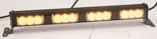 PSE Amber - XT304AAAA - Quad Lighthead, LED, Amber, Rect, 14-9/16 L ()