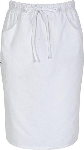 Dickies Womens Skirt - Dickies 86505 Women's 25-in Drawstring Skirt White Medium