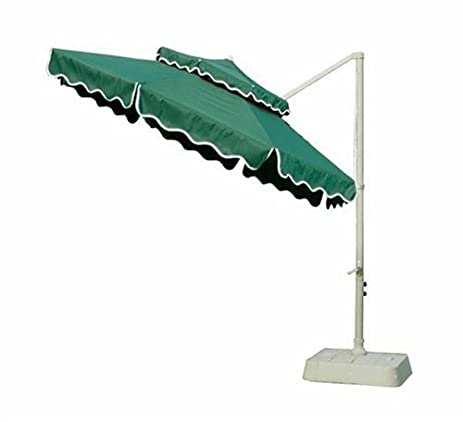 Southern Patio 10 Foot Round Offset Umbrella With Foldable Base And Double  Top Canopy