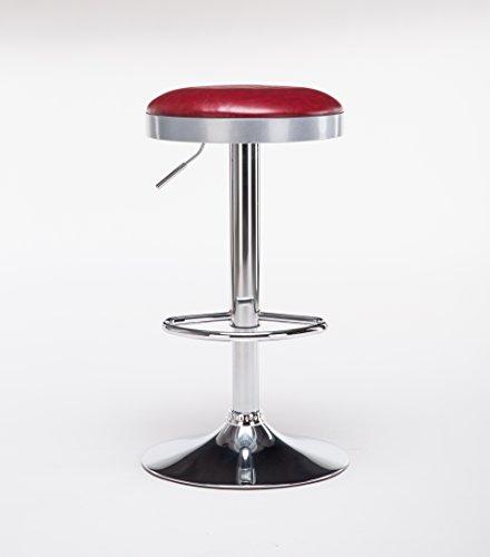 Boraam 98010 Copley Backless Stool, 1-Pack, Adjustable Height, Red by Boraam (Image #4)