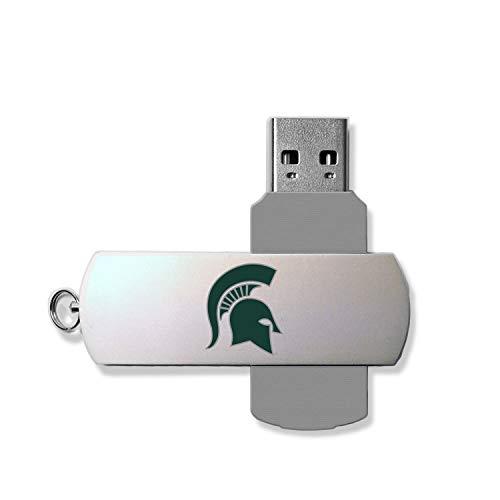 Keyscaper KUSB16-0MST-INSGN1 Michigan State Spartans Metal Twist USB Drive with MSU Insignia Design