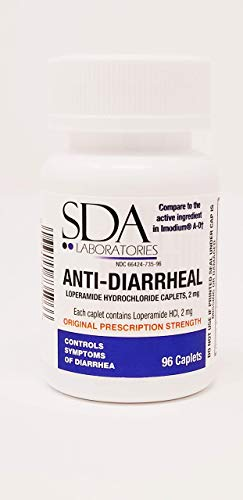 Anti-Diarrheal 2MG 96 Caplets by SDA Labs