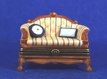 French Sofa and Pillows PHB Porcelain Hinged Box Midwest of Cannon Falls (Cannon Falls)
