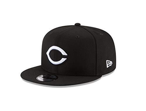 New Era 9Fifty Hat Cincinnati Reds Basic Snapback Adjustable Black Cap ()