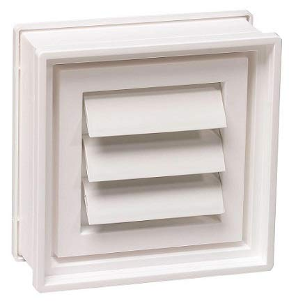 PITTSBURGH Glass Block Co 8 in. x 8 in. x 3 in. Dryer Vent for Glass Block Windows by PITTSBURGH Glass Block Co