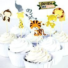 Zoo Animal Cupcake Topper Decorating Set By A