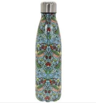 William Morris - Botella de agua de metal con diseño de fresa (500 ...