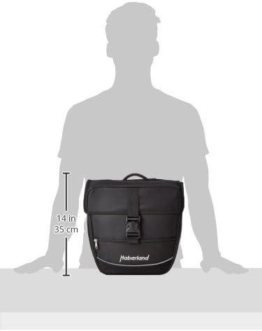 Haberland 130002-00 Double Sac débutant noir noir 25 L 30x32x13cm
