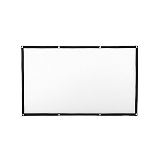 Homyl 77Inch 16:9 Portable Projector Screen Polyester Spandex High Contrast Collapsible Design with Hanging Hole Grommets for Front Projection Home Indoor and Outdoor Movie Match Party by Homyl