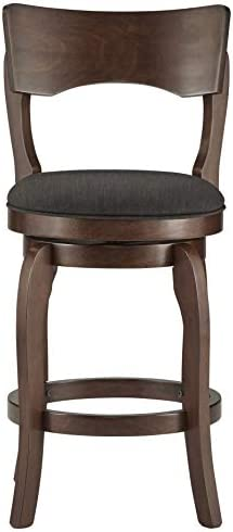 Inspire Q Lyla Swivel 24-inch Brown Counter Ight Barstool