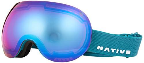 Native Eyewear Tundra Backbowl Ski-Goggles, Snow Turned Rose Blue