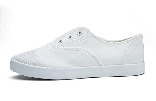 SHFANG Señora Zapatos Verano Movimiento Ocio Cómodo Estudiantes Escuela Diaria Blanco Negro White