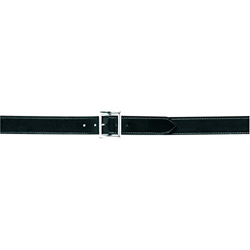 Safariland Duty Gear Garrison Chrome Buckle Belt (Plain Black, 32-Inch) (Garrison Buckle)