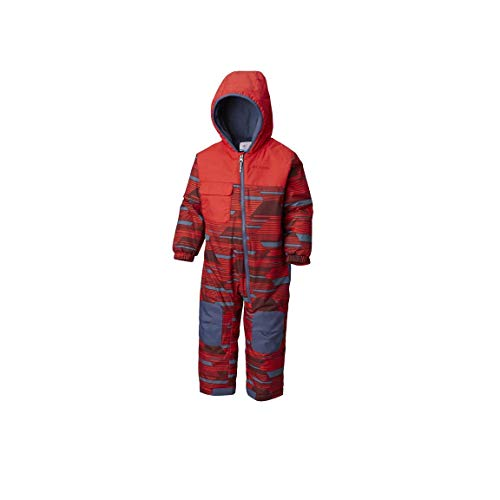 Columbia Unisex Baby Infant Hot-TOT Suit, Red Spark Geo Print, ()