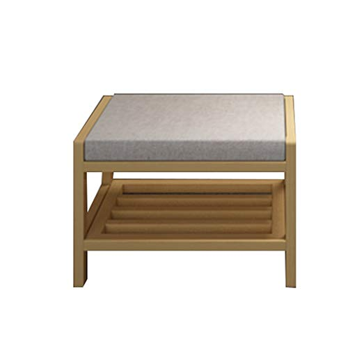 ZHAOYONGLI Stolls Storage Benches Household Change Shoe Bench Doorway Multifunction Seated All Solid Wood Shoebox (Color : Wood Color, Size : 553336cm)