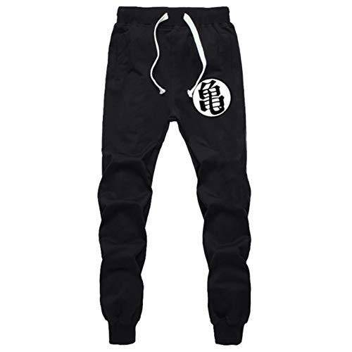 Men Funny Print Dragon Ball Goku Cotton Joggers Plus Size Trouser Pants -