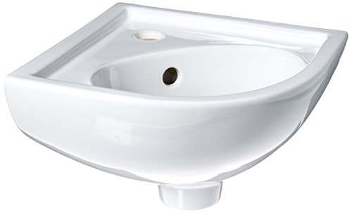 Barclay 4-745WH Petite Vitreous China Wall-Hung Corner Basin