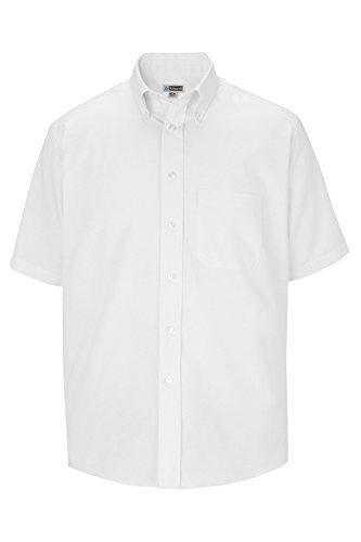 Men's Short Sleeve Oxford Shirt 1027 4XLT White by Edwards for Elliesox ()