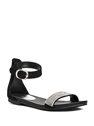 Guess Strap Ladies (GUESS Factory Women's Nikki Double-Strap Buckle Flat Sandals)