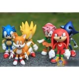 Sega Sonic The Hedgehog Figures Toy Pvc Toy Sonic Characters Figure Toy (6Pcs/Set)