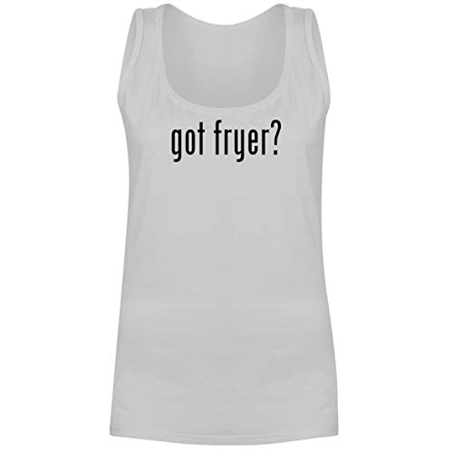 The Town Butler got Fryer? - A Soft & Comfortable Women's Tank Top, White, Medium