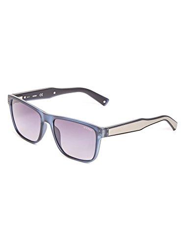 GUESS Factory Men's Metal Arm Square Sunglasses