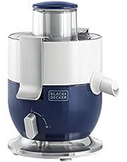 Black+Decker 1000W Compact Juicer Extractor, Blue/White - JE350-B5, 2 Years Warranty