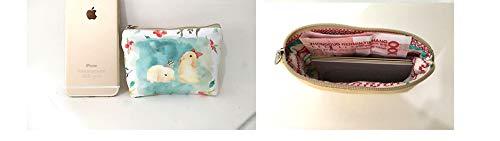 Accessoires Clés Femmes de Mini Rétro Eudola Femme Animal Cosmétiques Porte Crédit Monnaie Pochette Mini pour pour Mignon Carte Beige Classique Filles Beige avwxUSpq