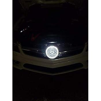 White Illuminated LED Car Logo Grid Badge for Mercedes Benz A B C CLS E GLK  GL R Series 2013-2015 Front Grille LED Emblem Light Car Front Grille Badge 93272a4c3d84