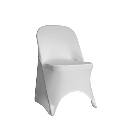 Your Chair Covers   Stretch Spandex Folding Chair Cover White Design Inspirations