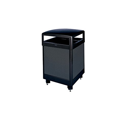 Rubbermaid Commercial Products Aspen Series Refuse Container (Hinged Top, 38-Gallon) (FGR38HT500PL)