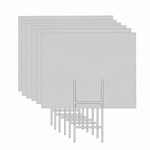 """MEJOR CONOCIDO 6 Pack 24""""x18"""" White Blank Lawn Yard Signs Co"""