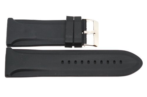 30MM BLACK SOFT JELLY RUBBER SILICONE SPORT WATCH BAND STRAP FITS INVICTA -