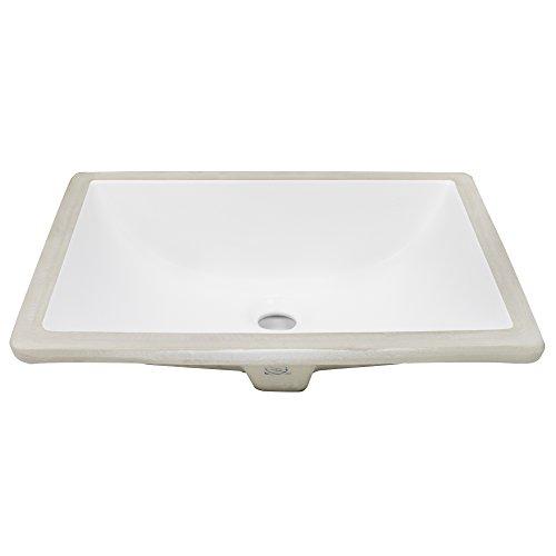 Ticor 18 Square White Porcelain Undermount Bathroom Vanity Sink Ceramic New Ebay