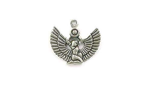 (Pendant Jewelry Making/Chain Pendant/Bracelet Pendant Sterling Silver Egyptian Goddess Isis Charm)