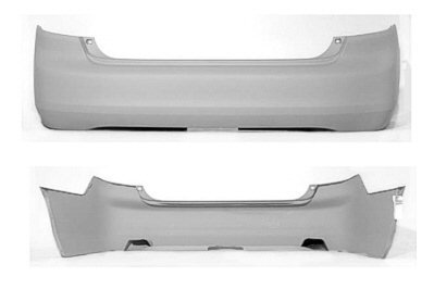 PAINTED REAR BUMPER COVER HONDA ACCORD 2003-2005 SEDAN - Taffeta White - (Taffeta White Honda Accord)