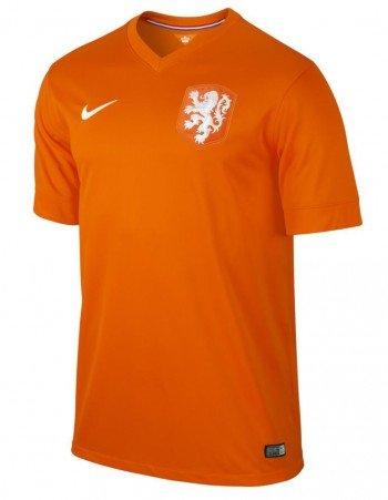 NIKE Netherlands 2014 Stadium Men's Soccer Shirt, Orange, L