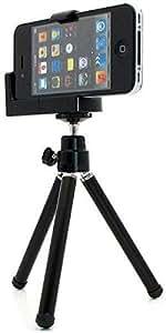 Black Universal Mini Tripod Stand Camera Video Holder For iPhone 4 4S 4G