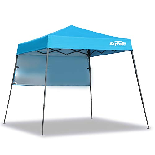 - EzyFast Ultra Compact Backpack Canopy, Pop Up Shelter, Portable Sports Cabana, 7.5 x 7.5 ft Base / 6 x 6 ft top for Hiking, Camping, Fishing, Picnic, Family Outings